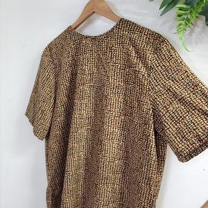 Vintage brown Black blouse